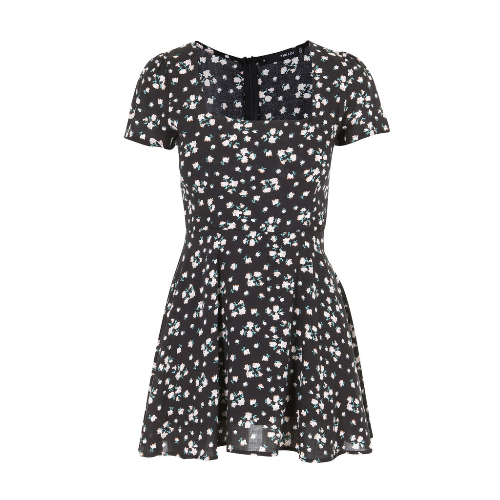 Take It Easy Summer Dress Black Floral