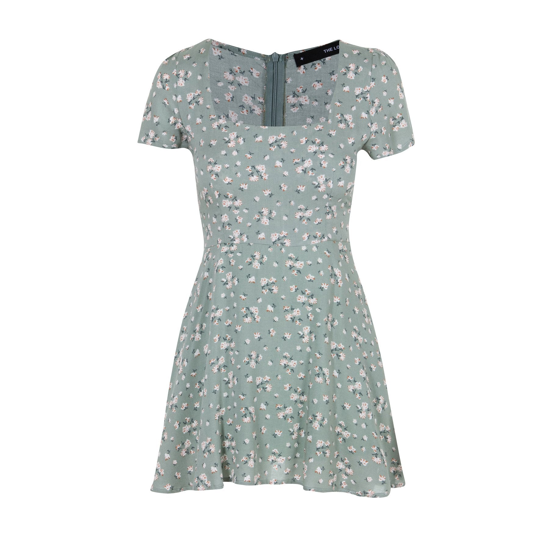 Take It Easy Summer Dress Green Floral