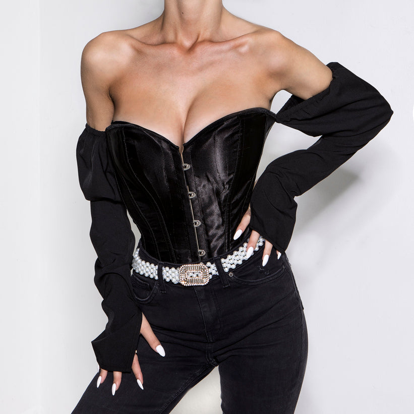 Fallen Angel Corset Top Black