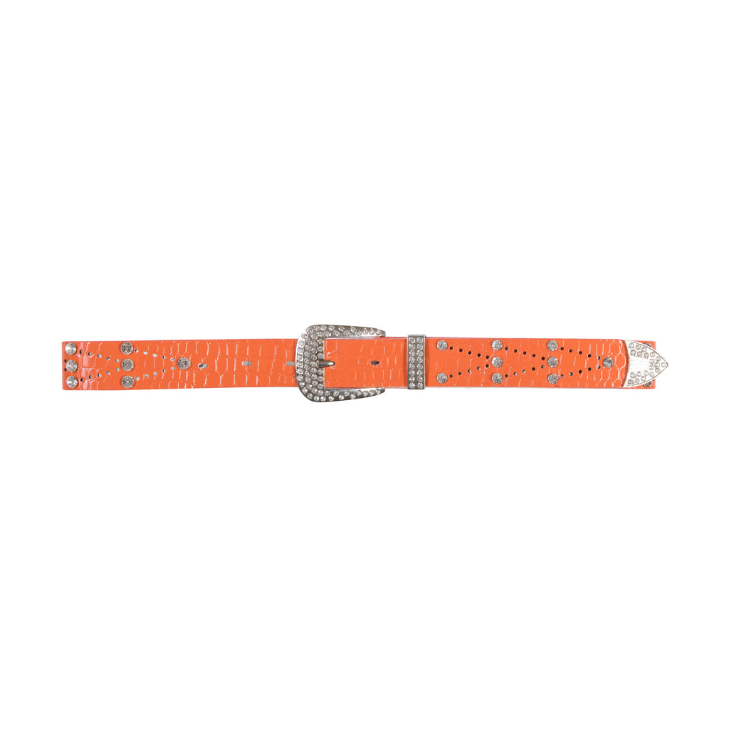 You're My Match Faux Leather Belt Orange