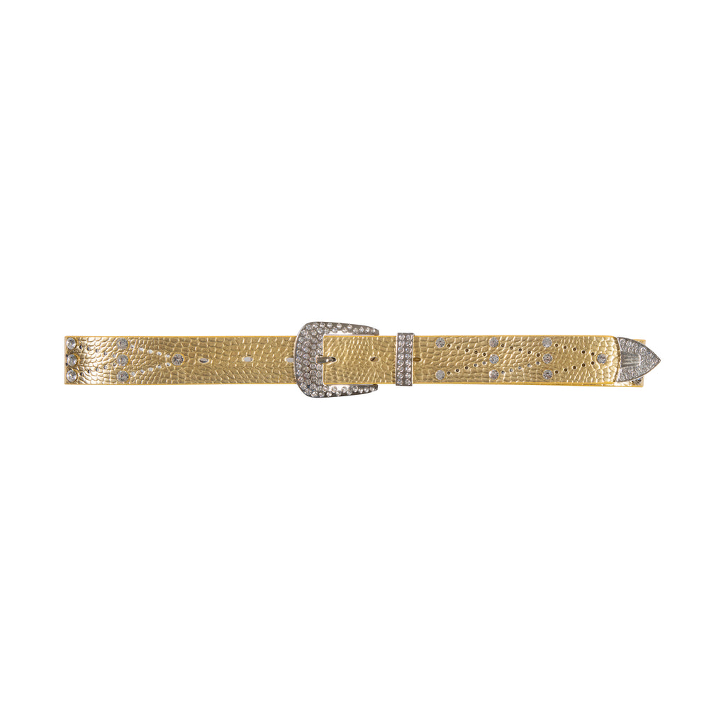 You're My Match Faux Leather Belt Gold