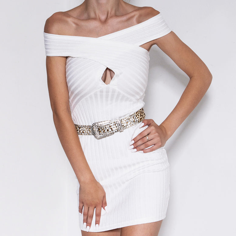 Palermo Knit Dress White