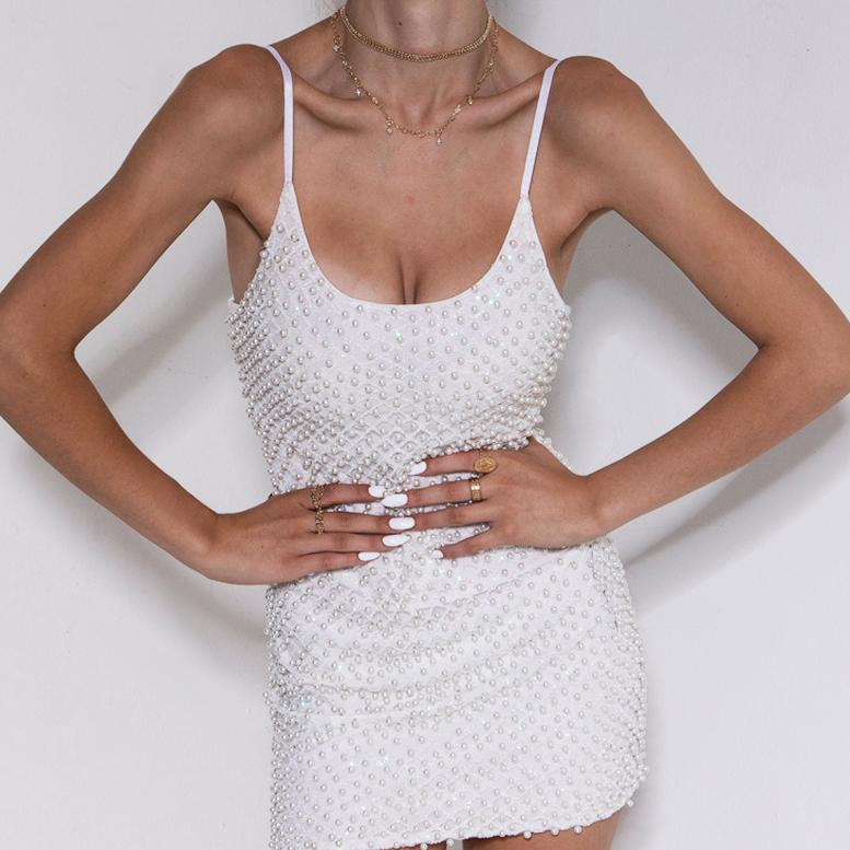 Star Power Dress White