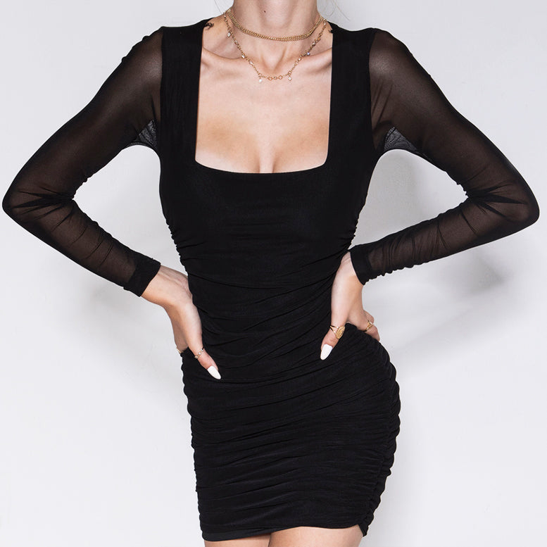 Don't Mesh It Up Dress Black
