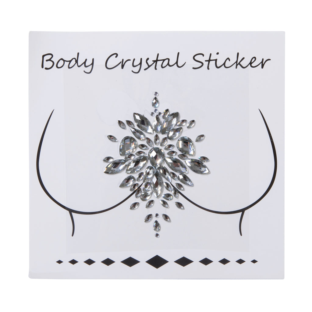 THE LOT Crystal Body Sticker Silver