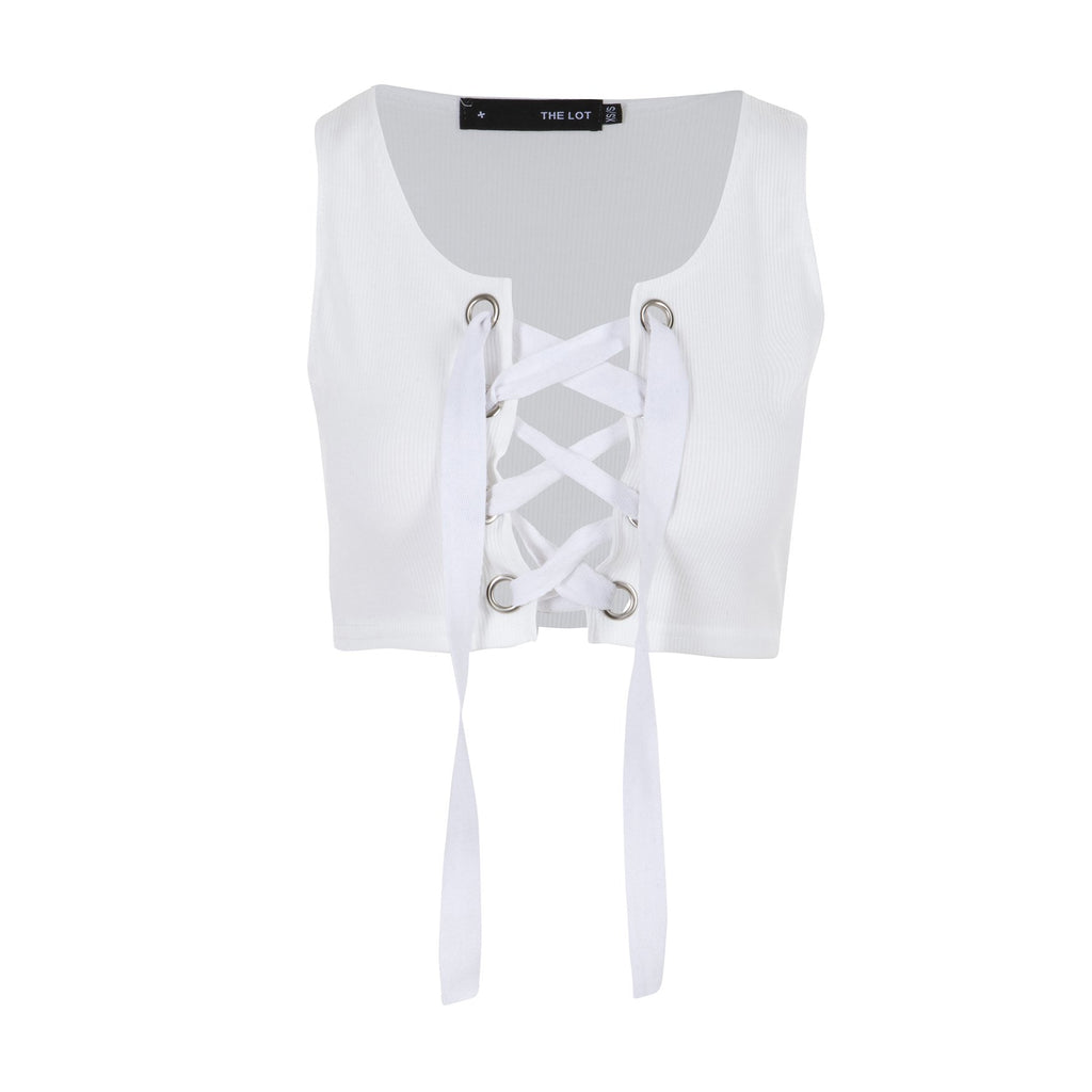 Untie Me Crop Top White