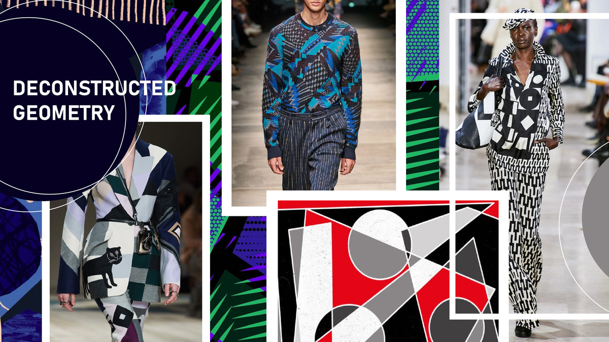Deconstructed Geometric Patterns Prints Trends New York Fashion Week A W 2021