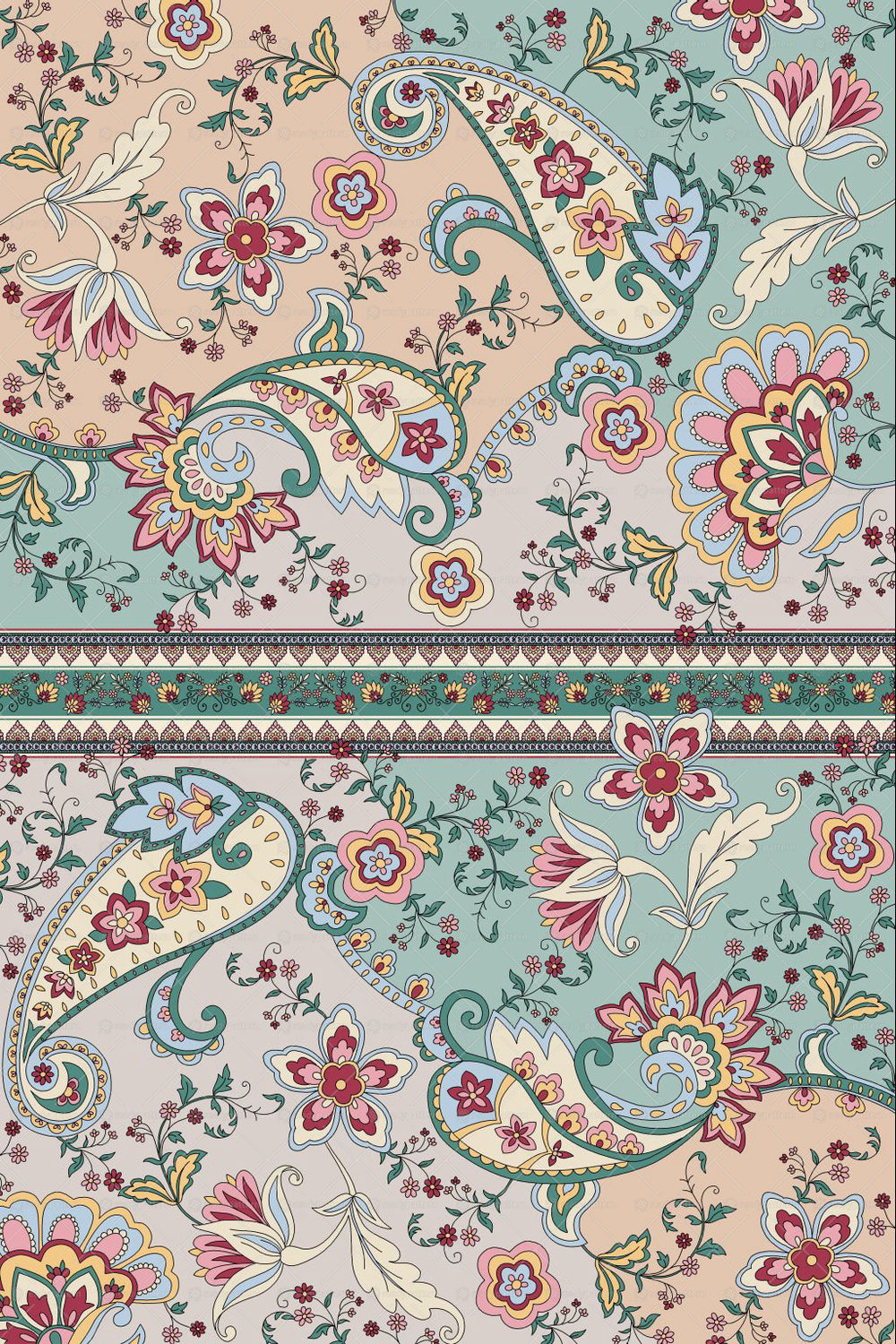 44+ Floral Paisley Digital Papers Crafter Files