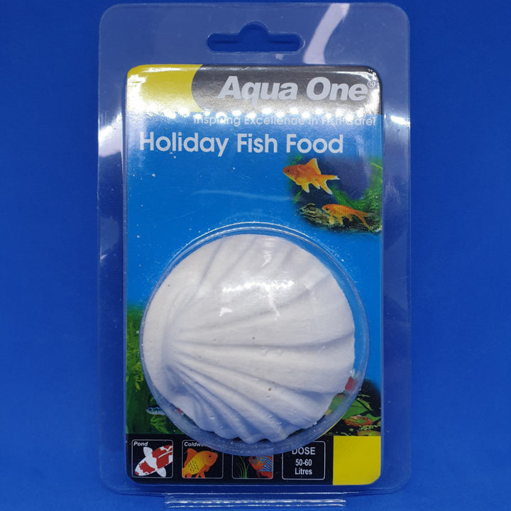 Aqua One 14-day holiday fish food block