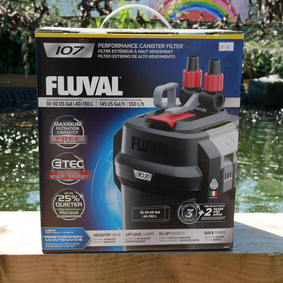 Fluval 107 Performance Canister Filter, up to 130 L (30 US Gal )