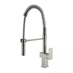 1150068 - Sgle Hdle Sink Faucet Brass Body 22-27/32¨ High  Pull Out Spout - Satin Finish..