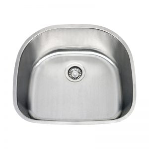 "1151307  -  Stainless Steel Sink 18g, (single) -- 23 5/8""x21""x9"""
