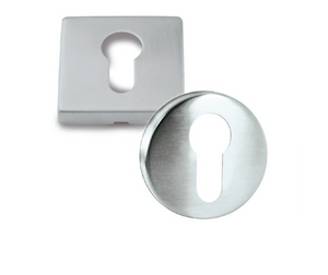 JI01373  -  Euro KeyHole Square and Round Type Stainless Steel (Cylinder Cover)