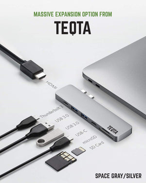TEQTA 7 in 2 USB C HUB for Apple Macbook USB Hub TEQTA
