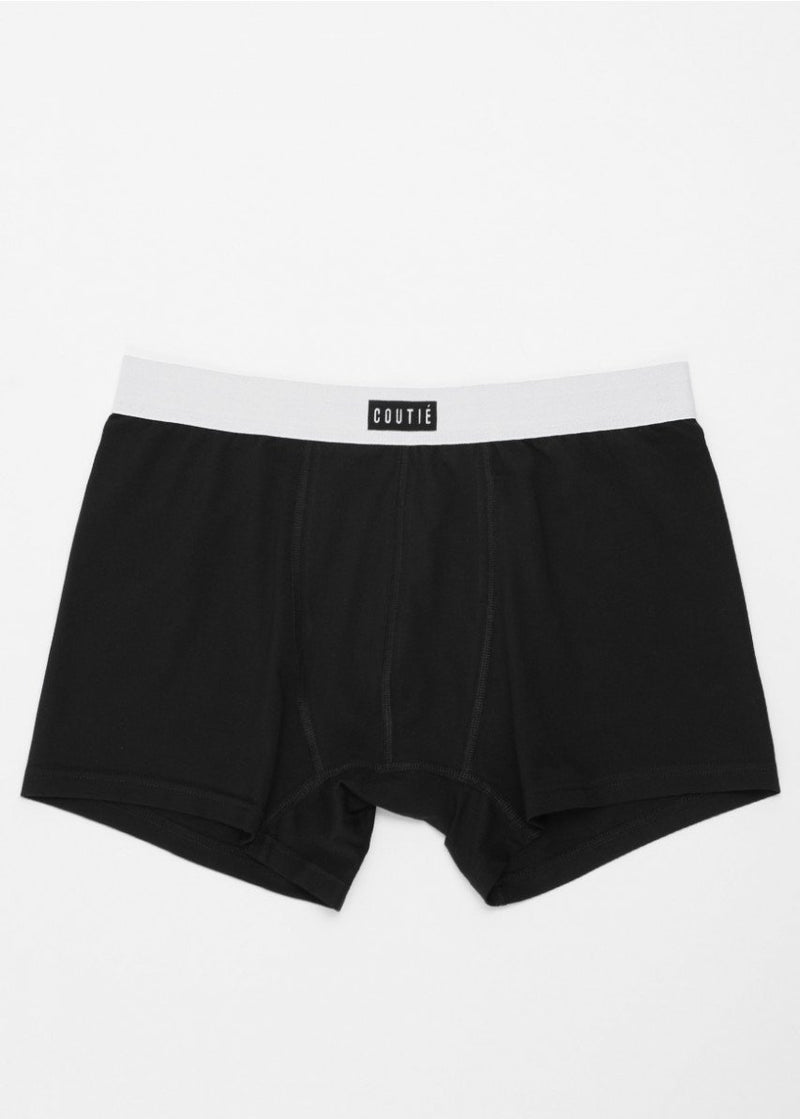 Box Logo Boxer Shorts Black - Coutié
