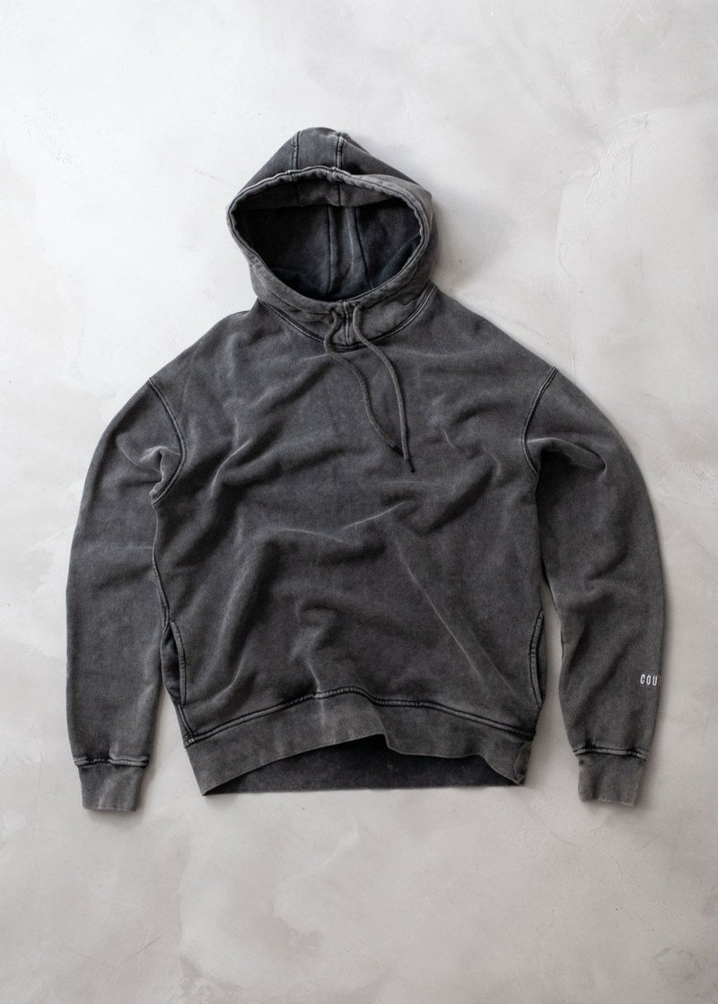 High Neck Hoodie Charcoal
