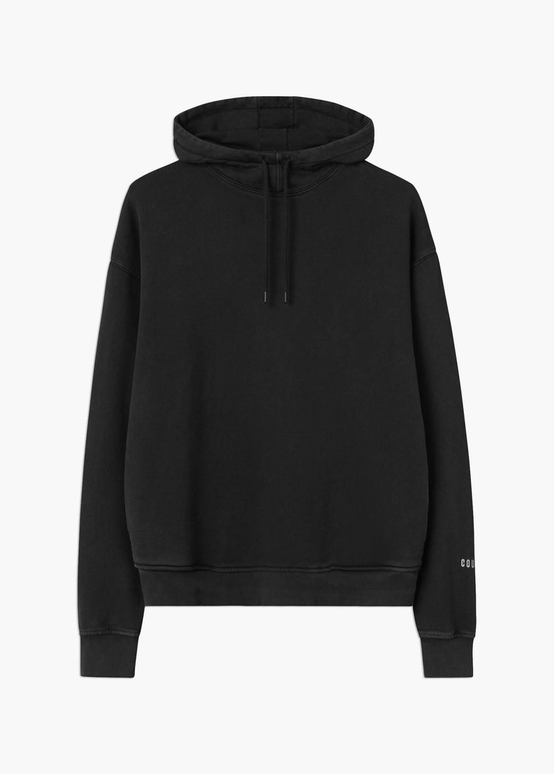 High Neck Hoodie Washed Black