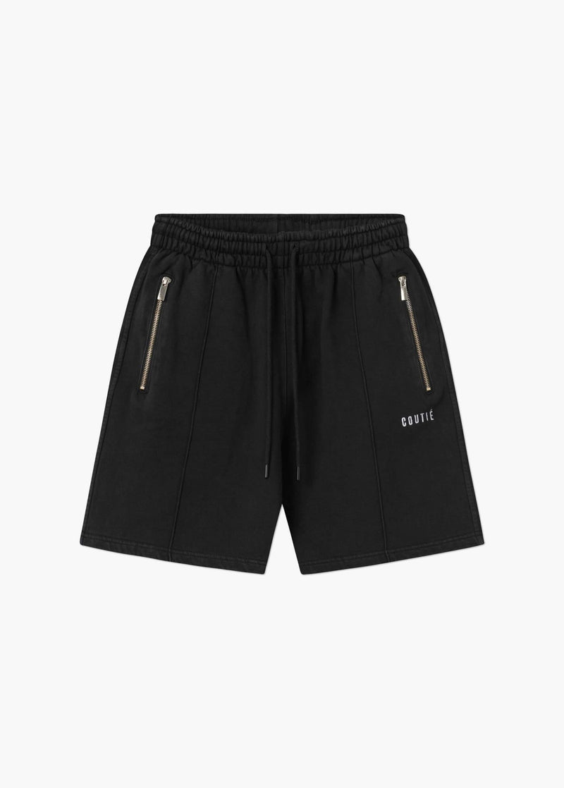 Pleated Shorts Washed Black