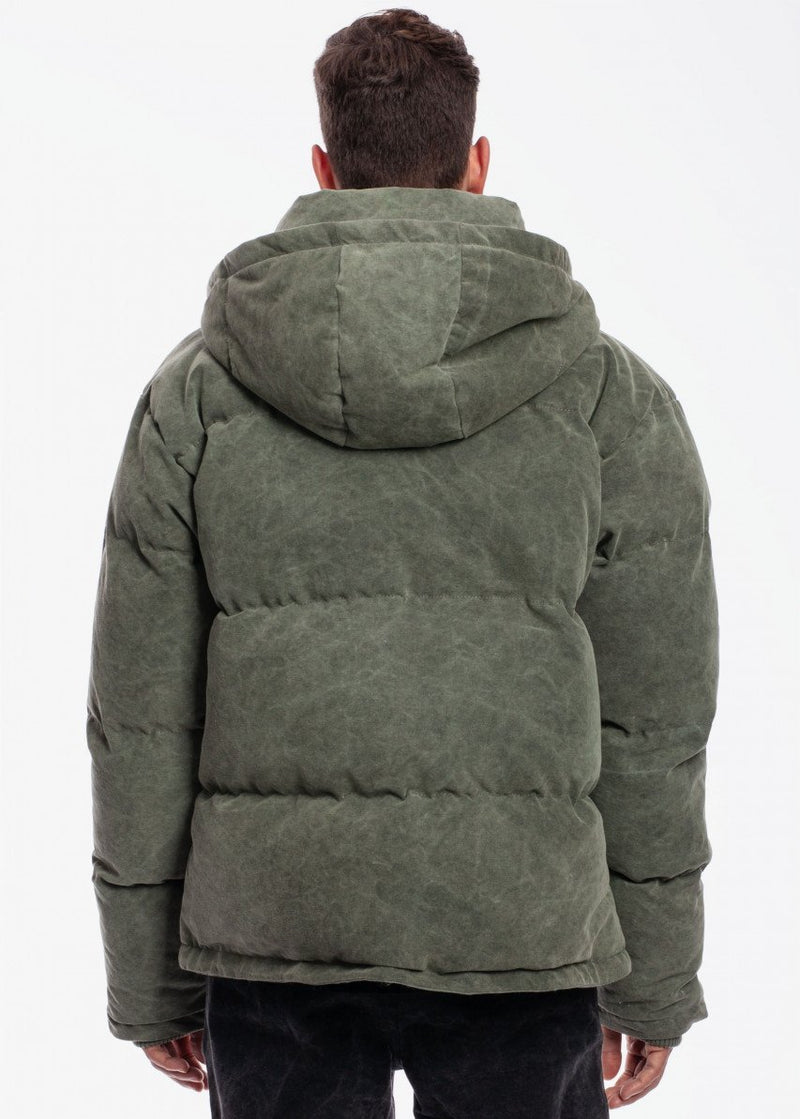 Quilted Puffer Jacket V2 Washed Olive
