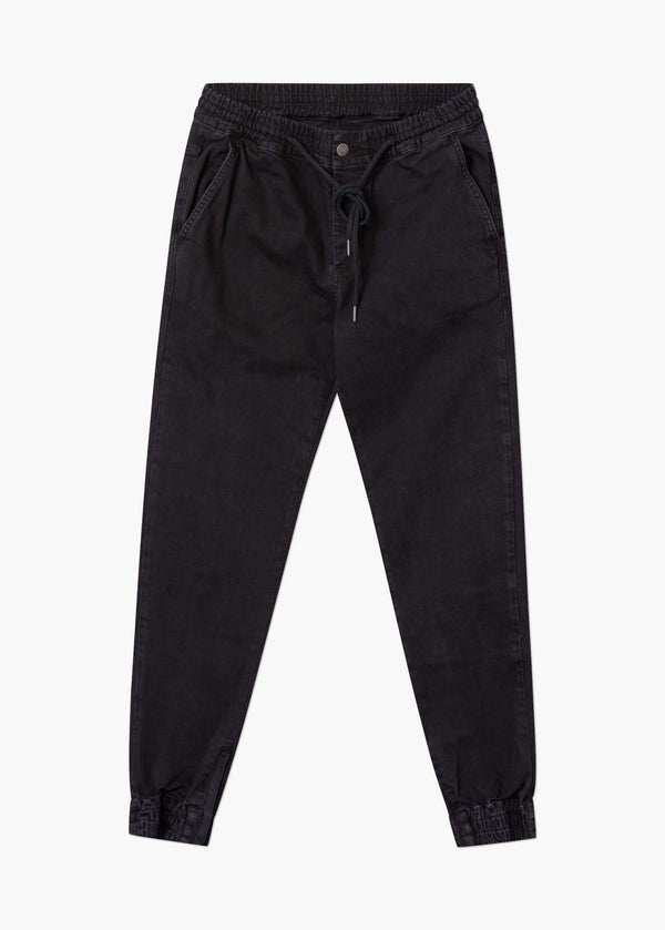 Tactical Denim Jogger Black