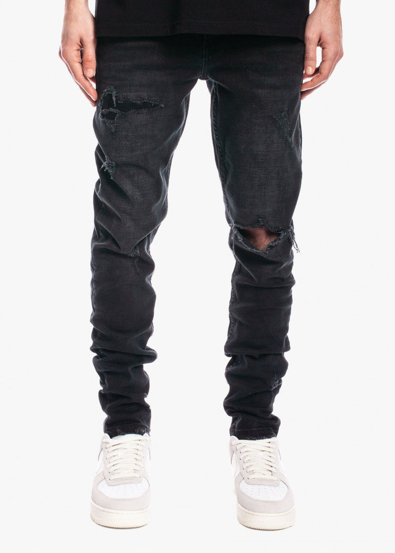 Tapered Denim V2 Rip n Repair Black Wash