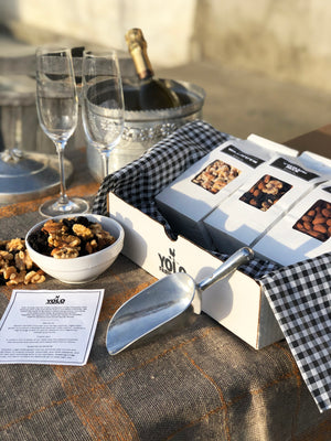 Best selling organic nut gift box basket delivery for anytime and holiday giving.