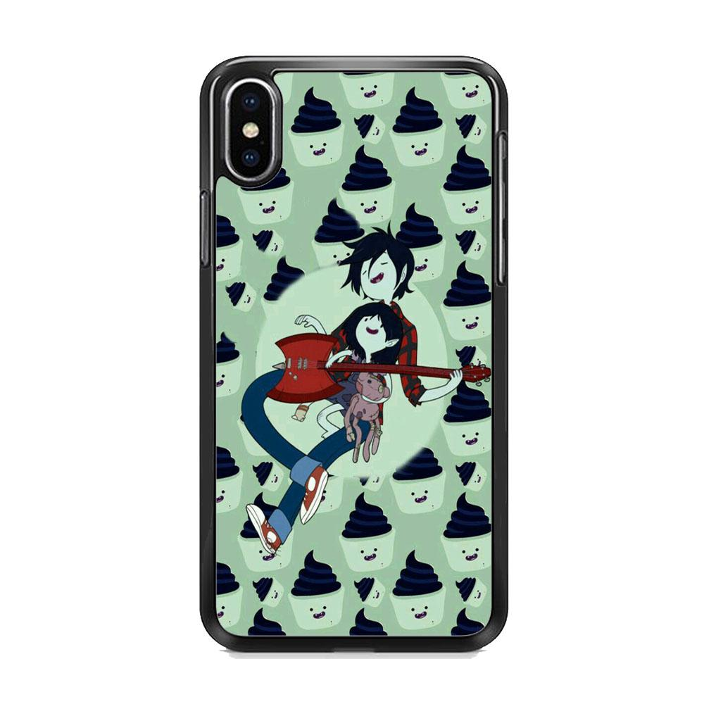 Adventure Time Marshall Lee Playing Guitar iPhone XS Case