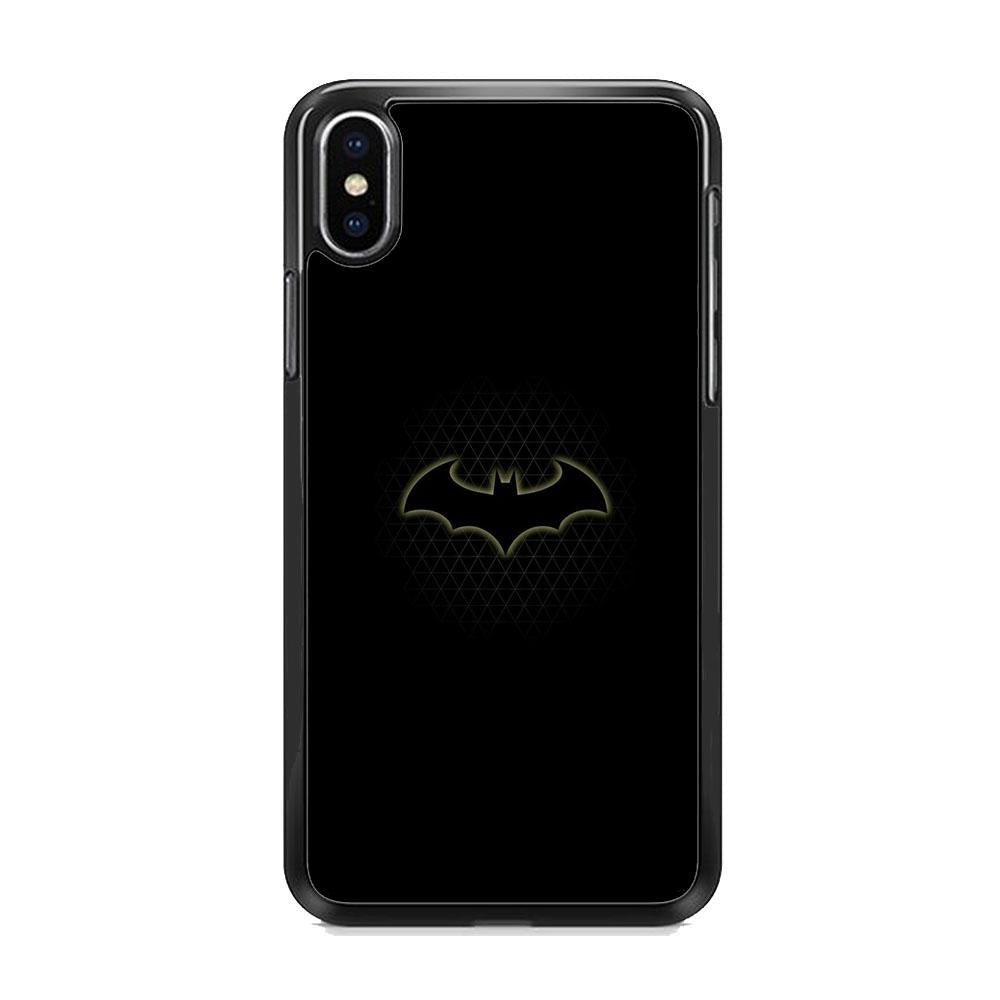 Batman Logo Simple Black iPhone XS MAX Case