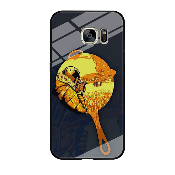 Battle Grounds Pan Dark Grey Picture Samsung Galaxy S7 Edge Case