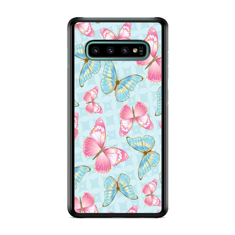 Butterfly Blue Violet Samsung Galaxy S10 Case