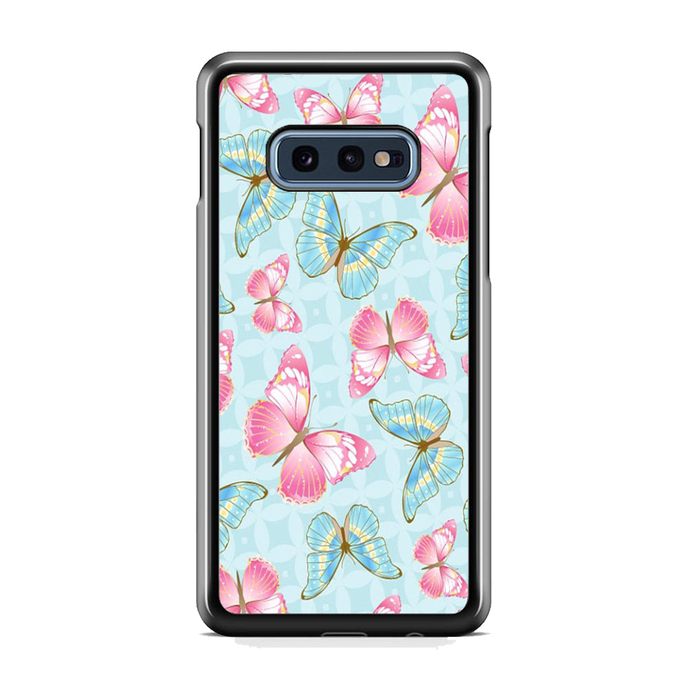 Butterfly Blue Violet Samsung Galaxy S10E Case