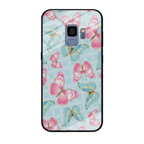 Butterfly Blue Violet Samsung Galaxy S9 Case