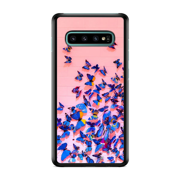 Butterfly Pink Wall Samsung Galaxy S10 Case
