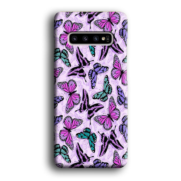 Butterfly Purple Cute Samsung Galaxy S10 Case