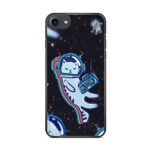 Cat Astronaut Radio iPhone 8 Case