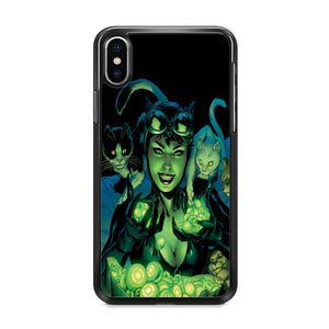 Cat Woman With Light Green Energy iPhone XS Case