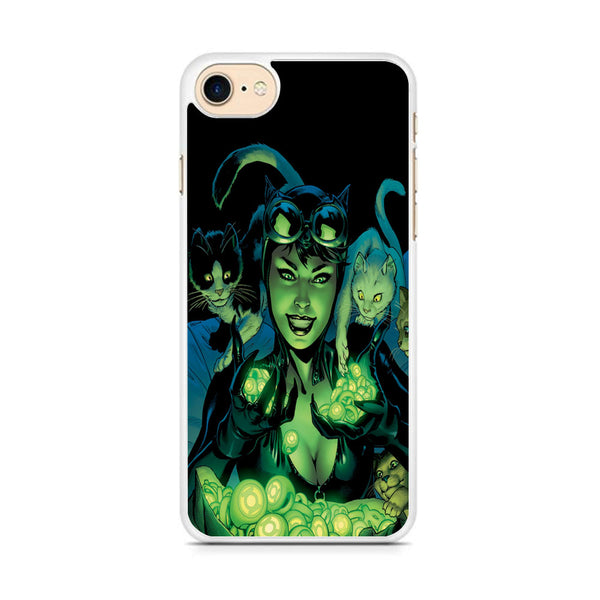 Cat Woman With Light Green Energy iPhone 7 Case
