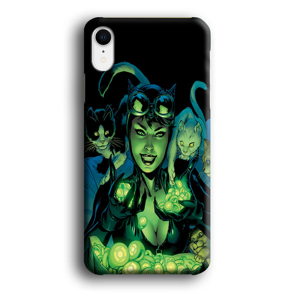 Cat Woman With Light Green Energy iPhone XR Case