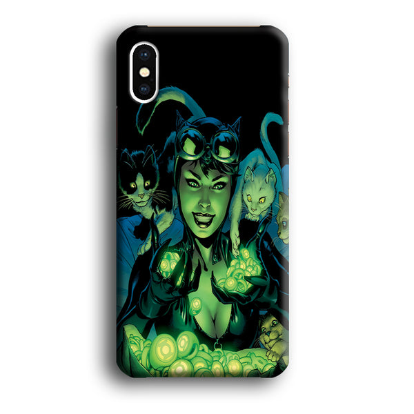 Cat Woman With Light Green Energy iPhone XS MAX Case