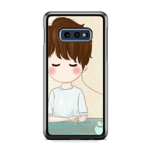Couple Earphone Man Samsung Galaxy S10E Case