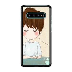 Couple Earphone Man Samsung Galaxy S10 Plus Case