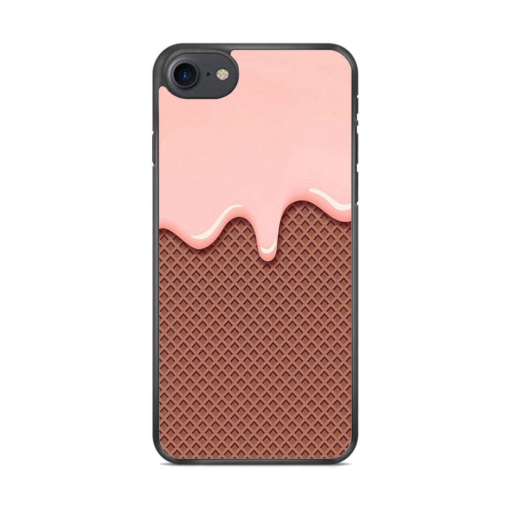 Cream Chocolate Waffer iPhone 8 Case
