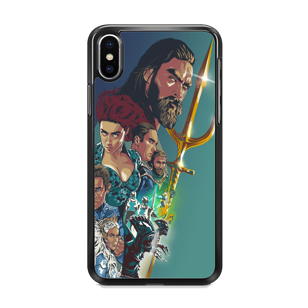 DC Aquaman All Character iPhone XS Case