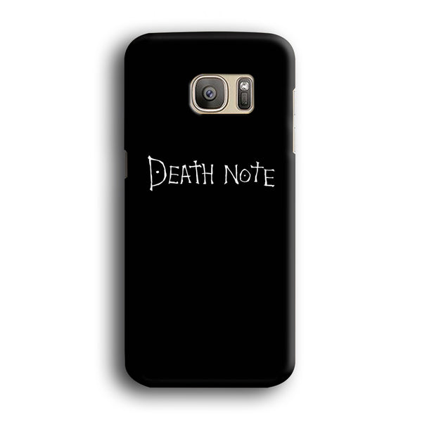 Death Note White Logo Samsung Galaxy S7 Edge Case