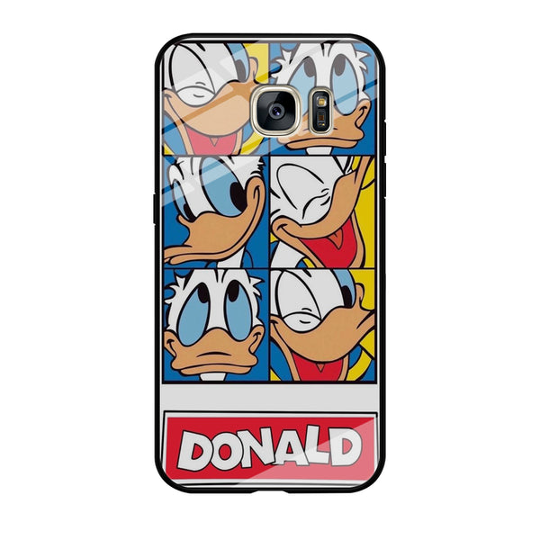 Donald Duck Sticker Samsung Galaxy S7 Edge Case