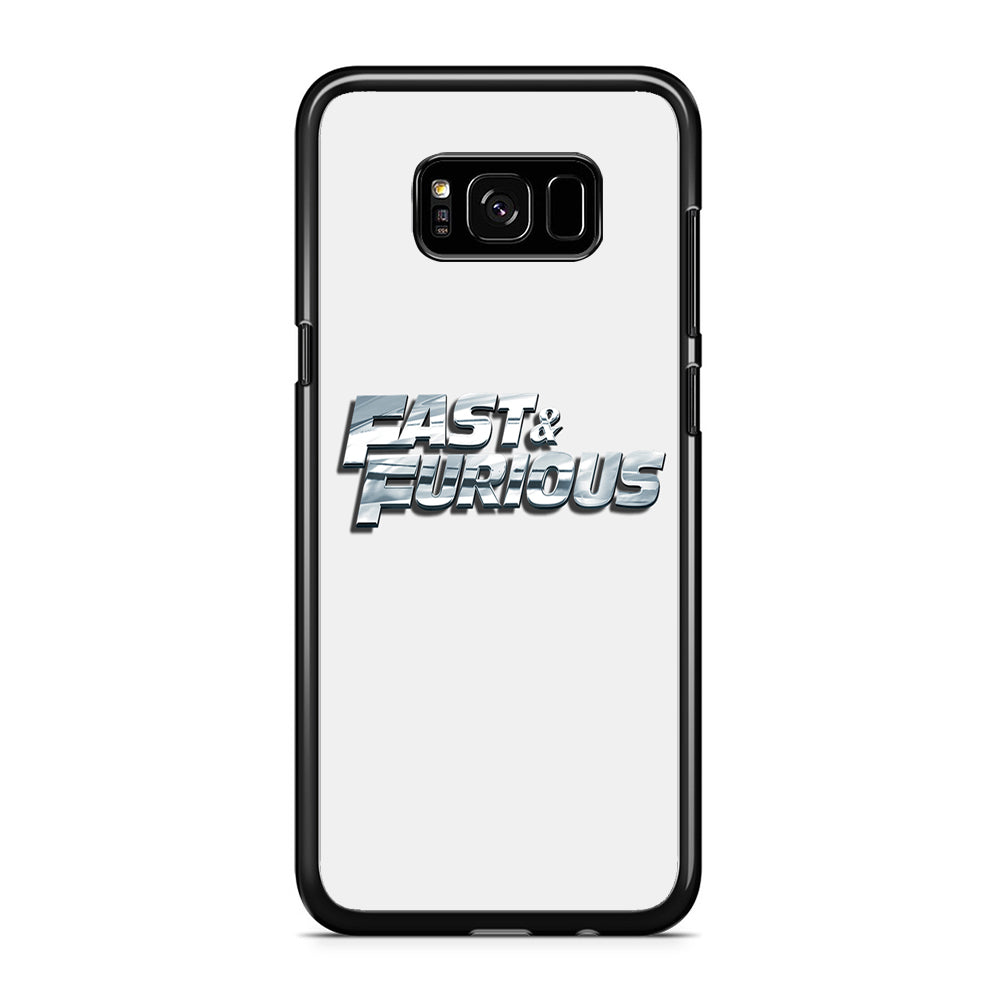 Fast & Furious Logo White Pearl Samsung Galaxy S8 Plus Case
