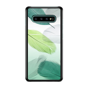 Feather Green Combination Samsung Galaxy S10 Case