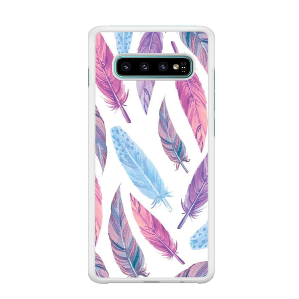 Feather Purple Samsung Galaxy S10 Case
