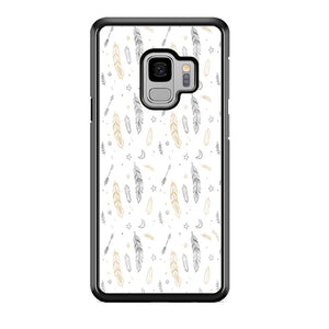 Feather White Luxe Samsung Galaxy S9 Case