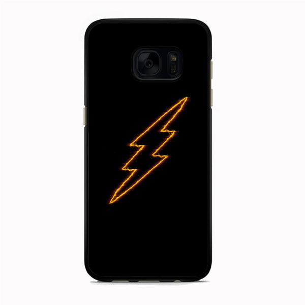 Flash Black Logo Samsung Galaxy S7 Edge Case